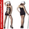 Ropa interior negra Bodystocking atractivo de la ropa de noche de las mujeres