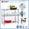 El alambre moderno de la cocina del metal del cromo de DIY deja de lado el estante, aprobación del NSF