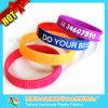 Wristband del silicone stampato marchio con Thb-037