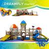 Diapositiva al aire libre del patio de los niños del tema del castillo