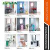Assoalho - gabinete de banheiro de vidro colorido montado