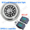 DMX 512 RGB wasserdichtes IP68 LED RGB Swimmingpool-Unterwasserlicht 12V