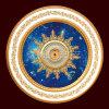 Conceptions artistiques luxueuses romantiques de médaillon de plafond de picoseconde de ciel bleu