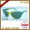 Óculos de sol com perfuração e frame verde nobre (FK15028)