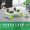 스테인리스 테이블 다리를 가진 신식 현대 사무실 책상