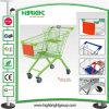Supermarkt-Einkaufen-Laufkatze der Zink-europäische Art-100L