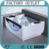Vasca da bagno acrilica dell'interno di massaggio del mulinello di idro massaggio indipendente di vetro (506)