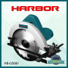Hb-CS001 la circulaire électrique de vente chaude de découpage du port 2016 d'outils à main en bois a vu