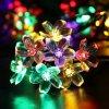 Più nuova indicatore luminoso di natale Solare-Alimentato della decorazione del fiore 2016 figura