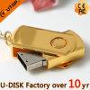 Disco istantaneo del USB dell'oro del metallo all'ingrosso della parte girevole (YT-1210)