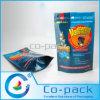 Bolso Ziplock plástico de encargo del alimento de animal doméstico