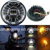 Linterna redonda redonda caliente de la venta 5.75  50W LED para la motocicleta