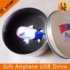 Disco astronáutico de encargo del USB del aeroplano del regalo con el rectángulo del estaño (YT-1125)