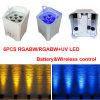 Decoración sin hilos de la boda de la batería barata del precio 5in1 Rgabw 6PCS LED