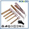 Populäres Rosen-Gold 5 in 1 Titanzylinder LCD-Haar-Lockenwickler-Eisen-Zange-gesetztes Haar-kräuselnStab