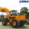 Capacité de position de Ltma 3.5m3 chargeur de roue de frontal de 6 tonnes