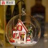 2017 populares juguetes de bricolaje de madera casa de muñecas con la bola de cristal