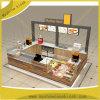 De populaire Kiosk van de Cake van de Kop van de Showcase van het Suikergoed van Kisok van de Thee van de Bel van de Winkel van de Wafel van het Winkelcomplex van de Stijl Binnen Houten