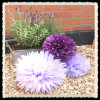 Bolas de la flor del partido del papel de tejido de la decoración 17gms de la ducha de bebé
