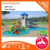 El parque modificado para requisitos particulares del agua resbala el patio del agua en piscina