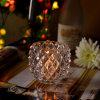 Diamond Patterned Glass Jar Vela