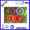 100% Food Grade Cheap Bead Charm Silicone Bracelet