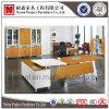Meubles de bureau de structure en métal 1.8m L bureau exécutif de forme (NS-D048)