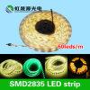 C.C. 12W 60LEDs/M da luz de tira 12V/24V do diodo emissor de luz de SMD 2835