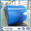 Charge en aluminium enduite d'une première couche de peinture de bobine pour le matériau de construction