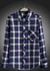 人の綿の長い袖の偶然のワイシャツ