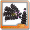 100 por cento da tecelagem brasileira superior do cabelo humano