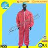 짠것이 아닌 SMS/SBPP 빨간 작업복, 가득 차있는 보호 처분할 수 있는 작업복