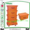 Escaninhos plásticos Stackable da mercearia para o armazenamento