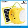 Lanterna solar do diodo emissor de luz da bateria acidificada ao chumbo com carregador móvel
