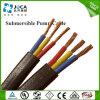 Плоский Jacketed кабель насоса силы погружающийся PVC с землей
