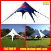 Gazebo шатра звезды нестандартной конструкции с логосом для напольного случая