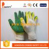 뜨개질을 한 두 배 색깔 유액 코팅 안전 장갑 (DKL318)