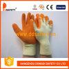 Gants de travail enduits par latex orange avec du CE (DKL321)