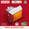 Interruptor de tecla do metal de Onpow (GQ12S-10/J/O/T, 12mm, CE, RoHS)