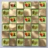 Mischfarben-Kristallglas-Mosaik-Fliese-u. Aluminium-Metallmosaik (FYL115)