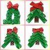 I capelli del bambino piegano i bambini Hairbows Boutqiue Headwear Handmade delle clip di capelli del nastro del Grosgrain dell'albero di Natale