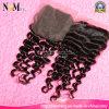 保証された品質はカラーねじれた巻き毛のバージンの毛の閉鎖を染めることができる