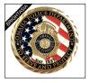 Moneta dura bilaterale su ordinazione dello smalto per il regalo di promozione (BYH-10307)