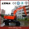 Vente chaude excavatrice chinoise de roue de 8.2 tonnes avec la position 0.4m3