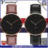 Yxl-010 kundenspezifische Dw Frauen-und Mann-Uhr, preiswerter Dw Uhr-Entwurf, super dünne lederne Dw Uhr