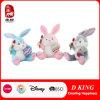 Brinquedos macios do luxuoso feliz do coelho de Easter com ovo e pastel