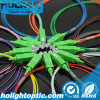 Simplex óptico 0.9m m del Sc APC de la coleta de fibra de 12 colores