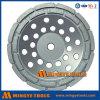 Двойное колесо чашки диаманта рядка для бетона