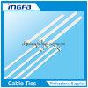 Tipo liberable ataduras de cables del metal de la alta calidad en resistente