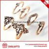 새로운 도착 6PCS/Set Boho 작풍 여자 다이아몬드 반지 세트